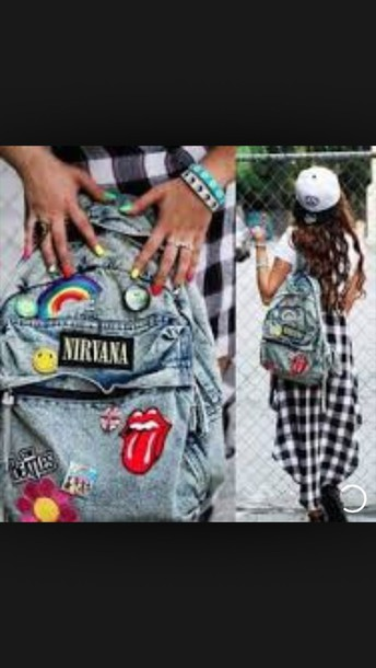 nirvana denim backpack