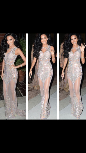 dress lilly ghalichi lilly's style glamourous mermaid dress diamonds sexy shahs sheer blackbarbie sexy gown haute couture designers dresses long dresses maxis glamour goddess big hair nude lingerie jewels bra underwear