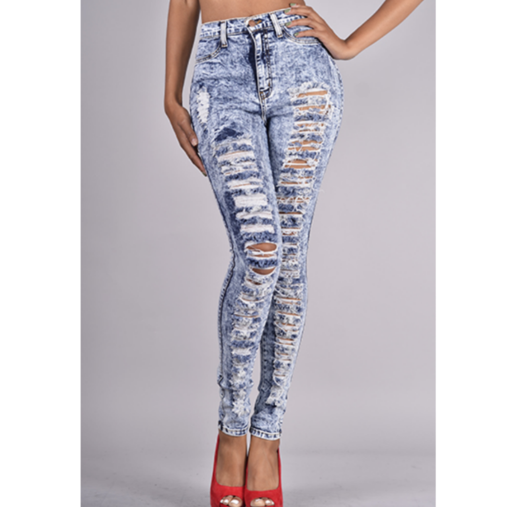 Cheap high waist cut up jeans – Global fashion jeans models