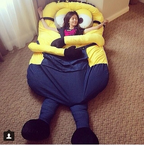 underwear bedroom minions despicable me eat sleep wear comfy outfits chill out bag bed, minion, comfy, big