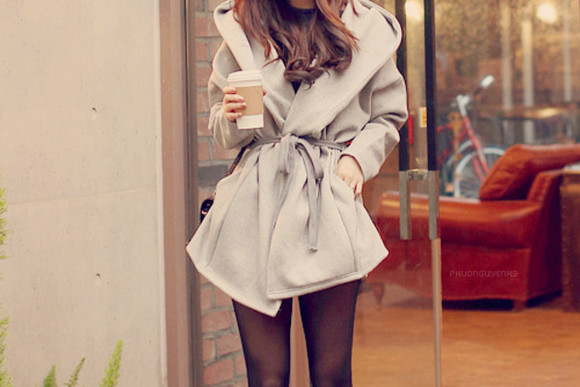 fashion grey winter outfits coat perfect