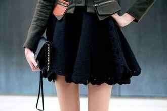 skirt lace blue skater skirt