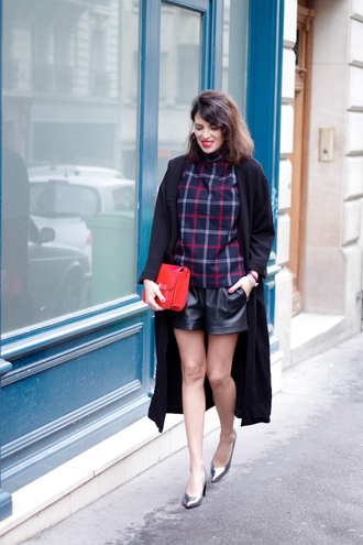 fashion is a playground blogger blouse shorts checkered pointed toe