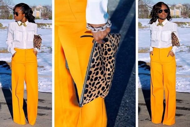 pants blouse bag