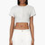proenza schouler grey leather paneled python crop_ top