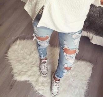 jeans blur jeans converse shoes
