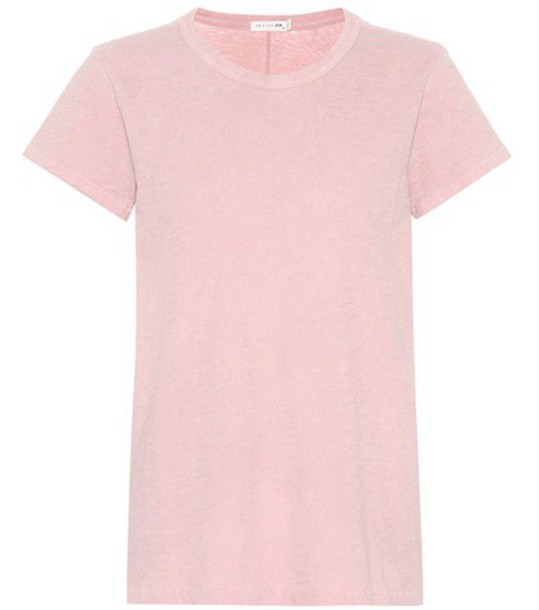 Rag & Bone t-shirt shirt cotton t-shirt t-shirt cotton pink top