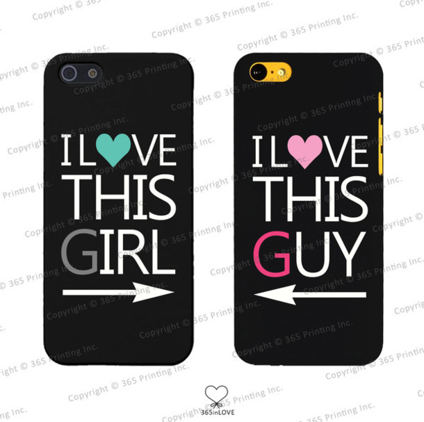 phone cover i love this guy i love this girl matching phone cases