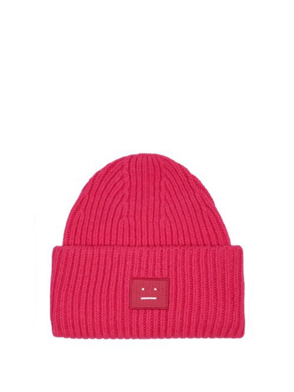 01c5daed6a6b ACNE STUDIOS Pansy ribbed-knit wool beanie hat in blue .