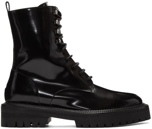 YANG LI classic lace black shoes