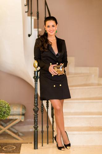 crimenes de la moda blogger blazer dress black dress