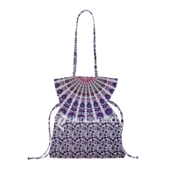 bag handbag bucket bag shoulder bag mandala purple