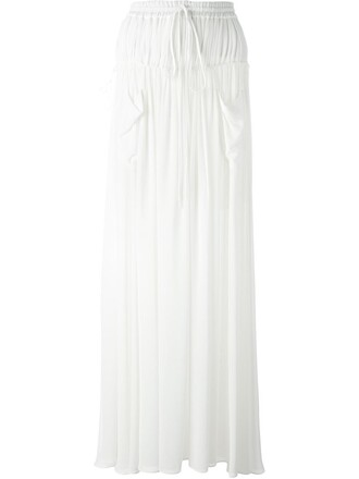 skirt maxi skirt maxi pleated white