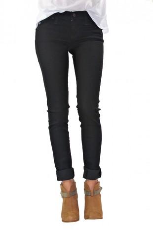 Low Rise Denim Legging (Black) - ShopFrankies.com