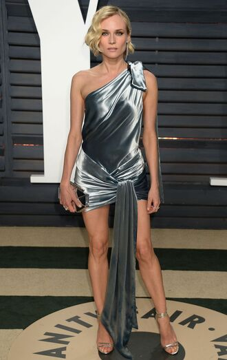dress satin satin dress diane kruger oscars 2017 sandals mini dress oscars