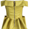 Yellow off the shoulder spaghetti strap ruffle top - sheinside.com