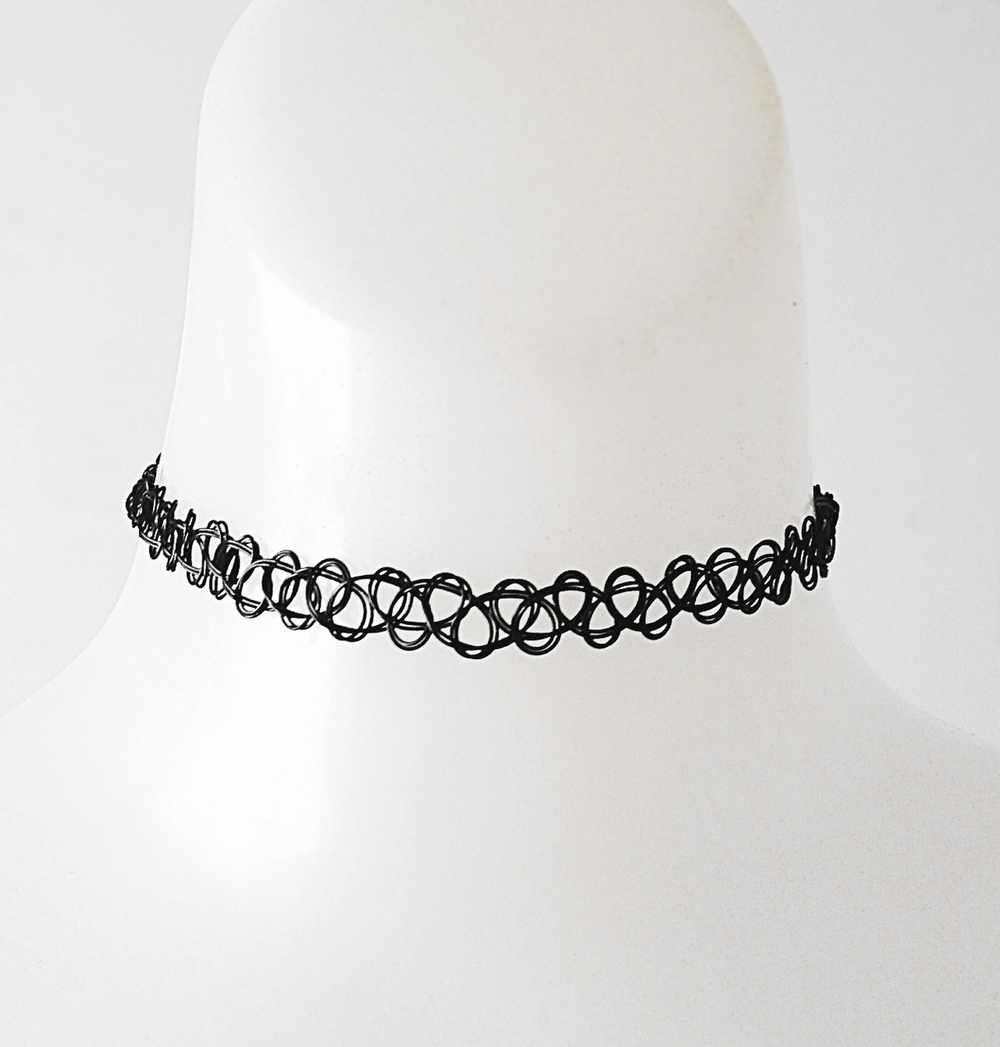 Tattoo stretch choker necklace