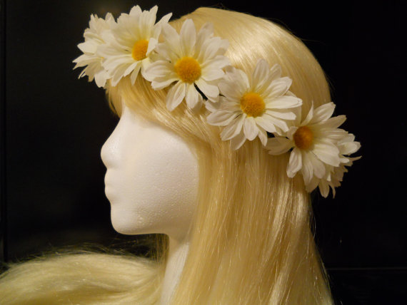 Flower Crown Head Wreath Headband Daisy Chain by MyFairyJewelry