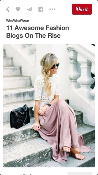 skirt maxi style boho mauve long skirt