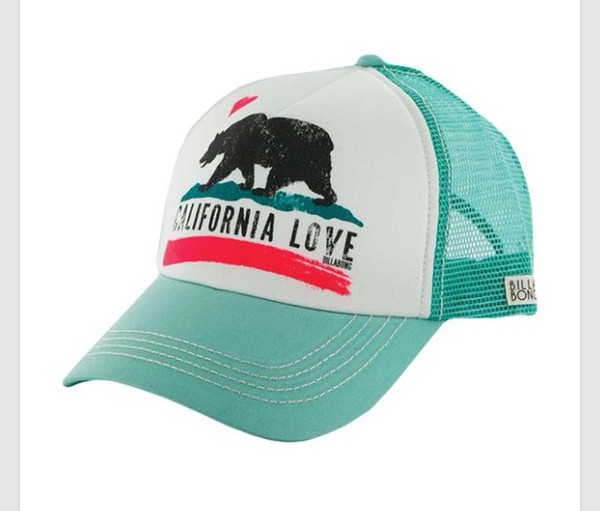 teal california republic love white bear heart summer outfits style cute hat