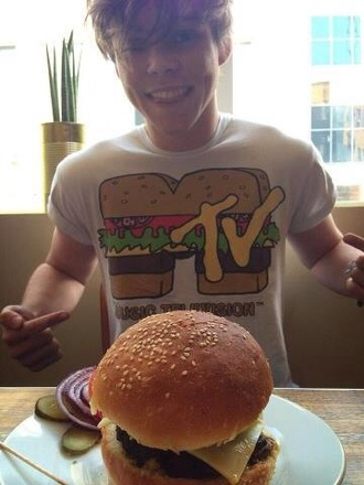 shirt hamburger mtv t-shirt 5 seconds of summer