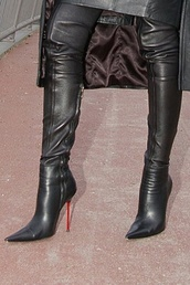 shoes,fetish,boots,leather boots,tight boots,pointed heels