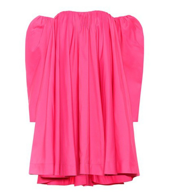 Calvin Klein 205W39NYC Off-the-shoulder swing dress in pink