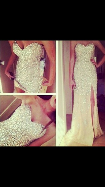 dress sparkle prom dress long dress sweetheart dress