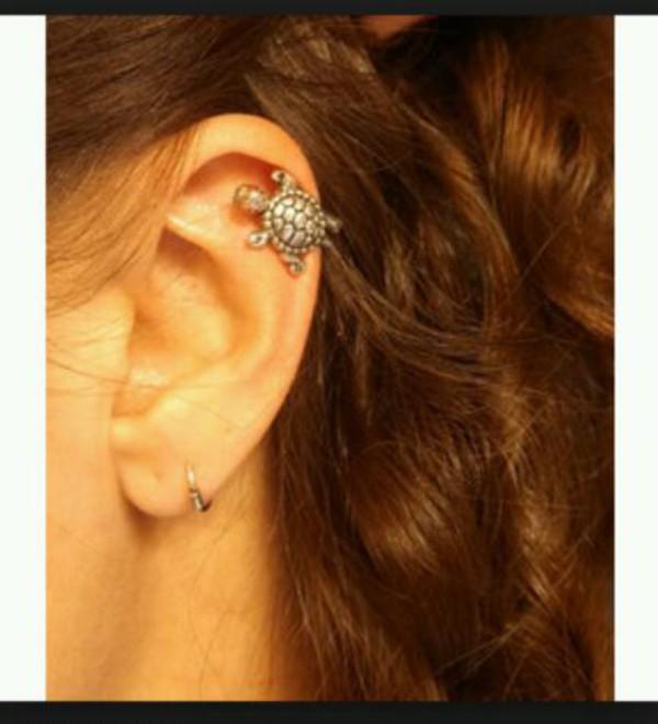 jewels bijoux earrings ear piercings helix piercing turtle