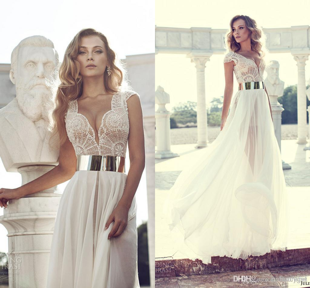 Line floor length style and lace chiffon material for wedding party evening, $112.05