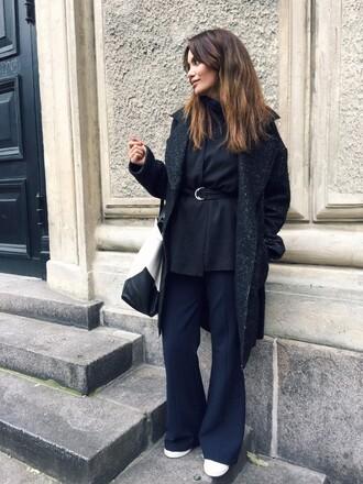 by funda blogger coat black coat