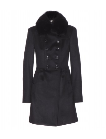 Blend coat with detachable fox fur collar   000969 ☼ mytheresa.com