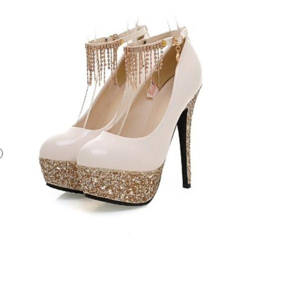 shoes prom shoes glitter high heels platform shoes black heels