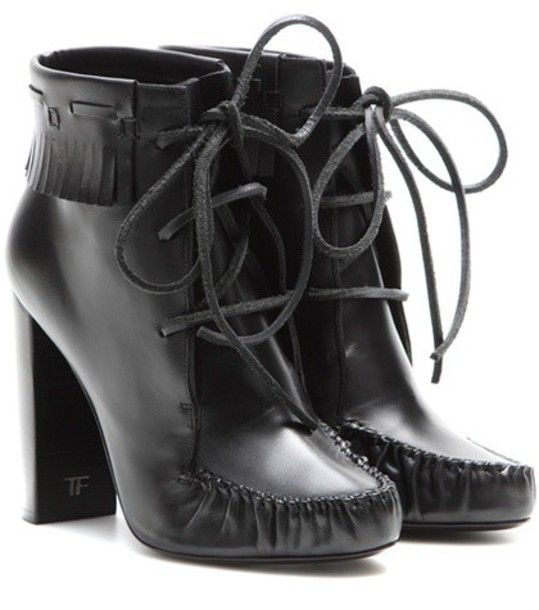 Tom Ford leather ankle boots boots ankle boots leather black shoes