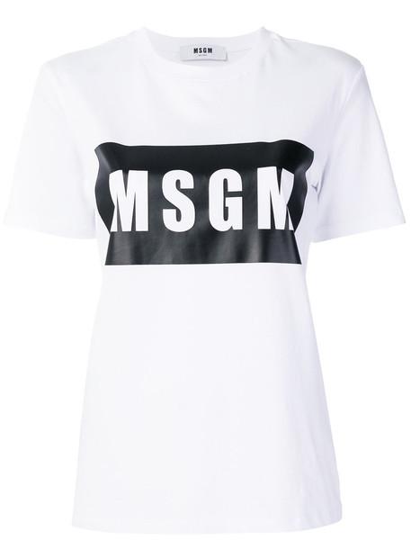 MSGM t-shirt shirt t-shirt women white cotton top