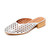 Jeffrey Campbell Mula Ii Star Perforated Slides - Silver Star Punch