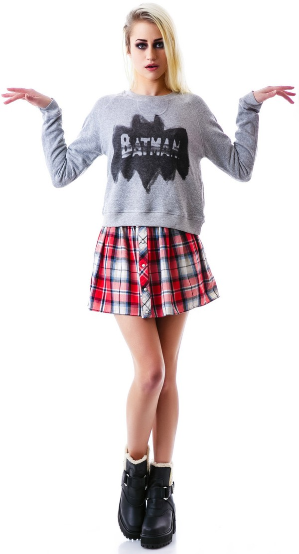 skirt plaid skirt plaid flannel preppy sweater
