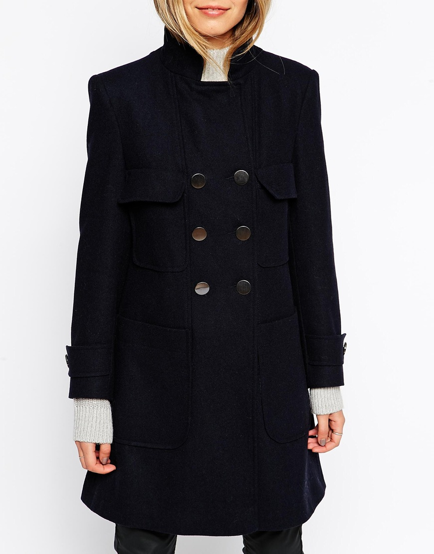 Asos coat with patch pockets in a line at asos.com
