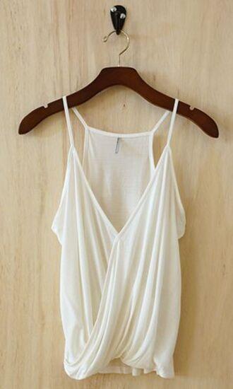 blouse white flowy thin straps summer