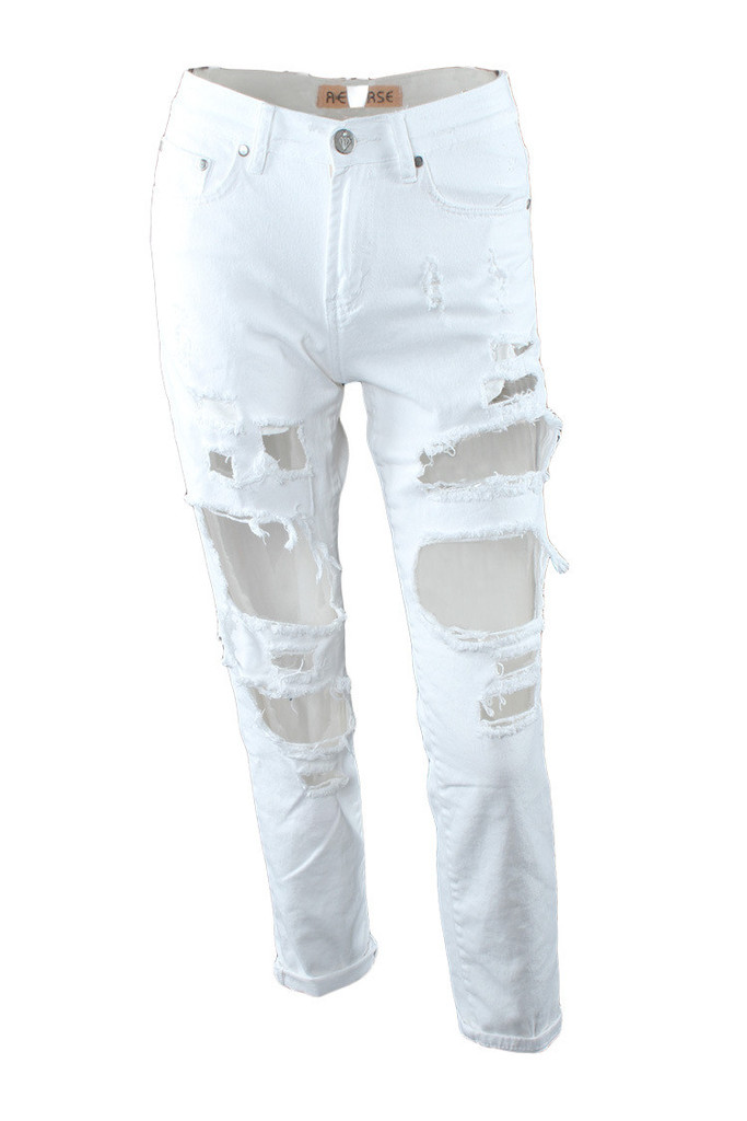 Ripped skinny denim
