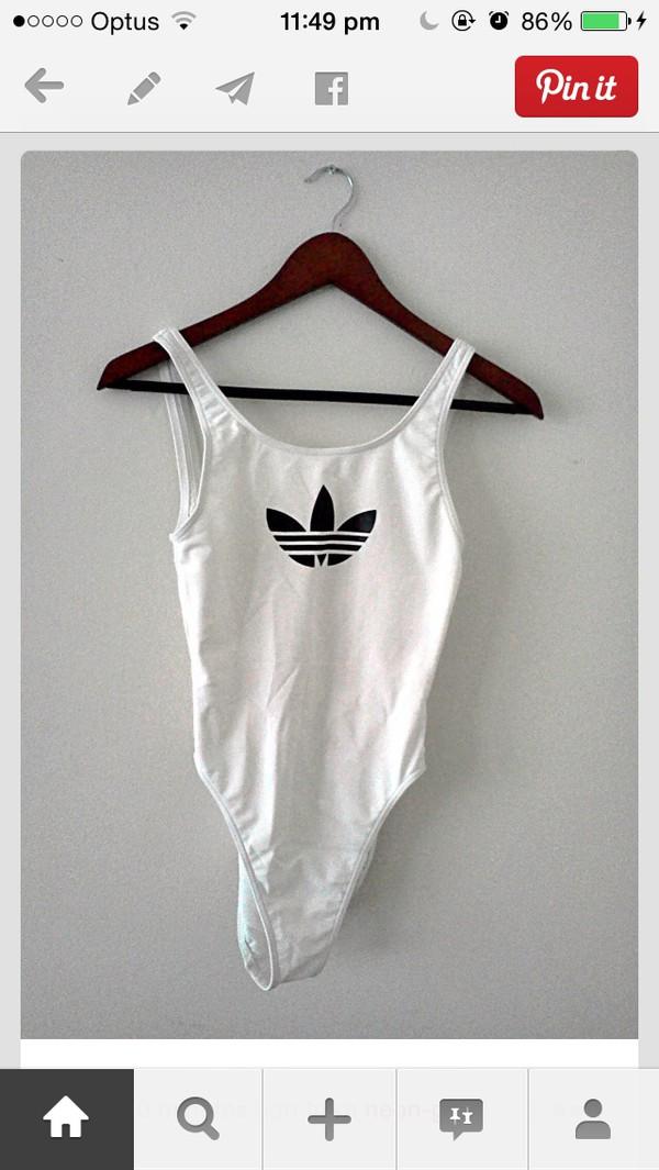 top bodysuit white adidas weed adidas wings tumblr