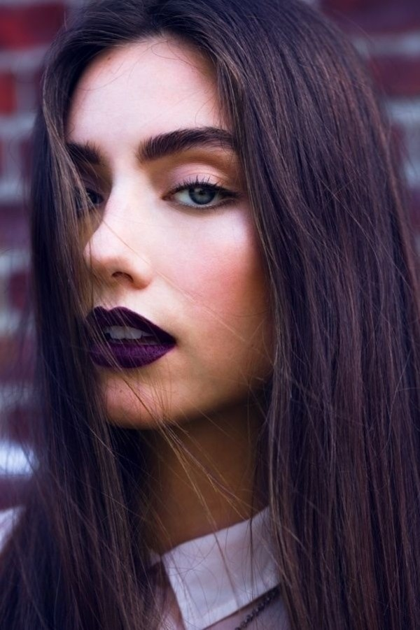hair/makeup inspo jewels make-up purple lipstick lipstick plum purple lips dark dark lipstick
