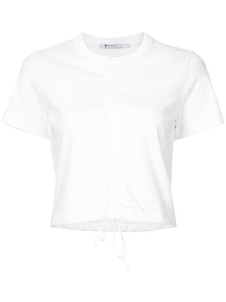 Alexander Wang top cropped women lace white cotton silk