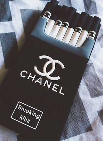 phone cover chanel iphone cover iphone case black cigarette