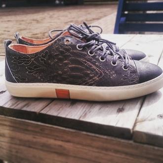 shoes rehab bohemian ibiza snake donker blauw leather
