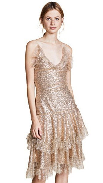 Rodarte dress metallic gold