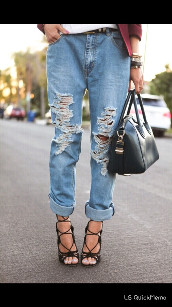 jeans boyfriend jeans denim bag cardigan