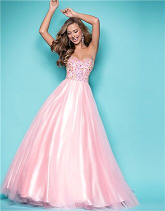 puffy chiffon prom dress strapless glitter embellished princess a line sweetheart dress a line prom gowns