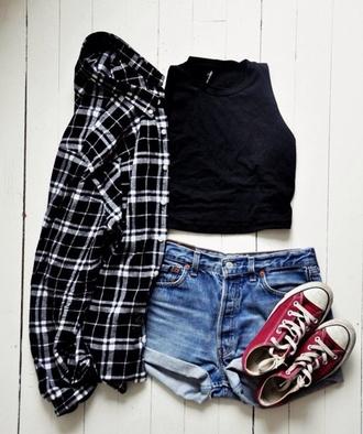 top cute blouse shorts