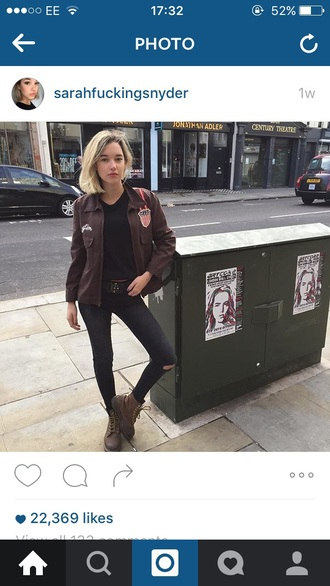 shoes sarah snyder brown boots love fashion fashion week 2015 combat boots